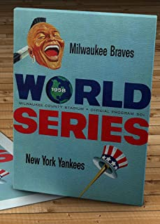 1958 Vintage Milwaukee Braves - New York Yankees World Series Program - Canvas Gallery Wrap - 12 x 16