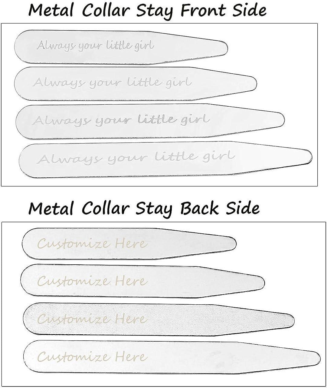 Zysta 4 Pairs Set Stainless Steel Shirts Collar Stand Bones 2.2