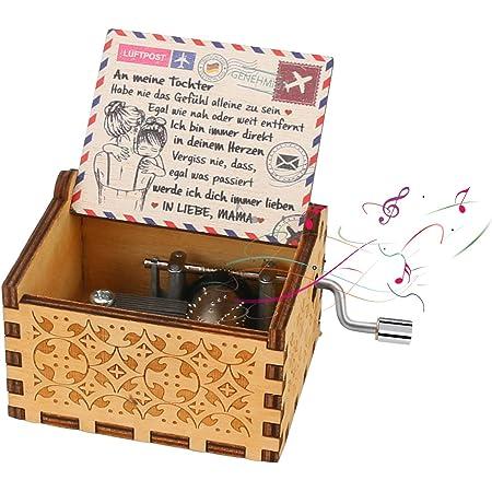 """Yideng Carillon in legno con Manovella con Musica """"You Are My Sunshine"""" Music Box della Manovella Antique Carved Musical Box per Bambini Moglie Genitori Regalo per Compleanno, Natale, San Valentino"""