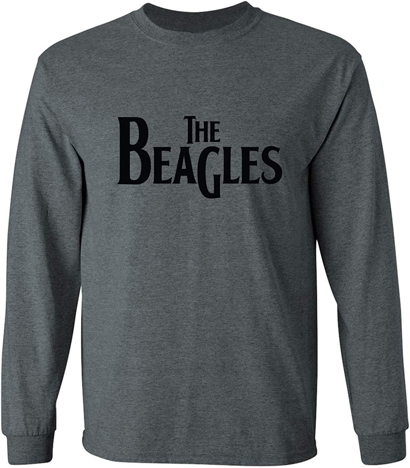The Beagles Adult Long Sleeve T in Dark Heather - XXX-Large
