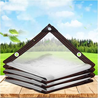 SHIJINHAO Transparent Tarpaulin, Garden Clear Waterproof Tarp Anti Freezing Rainproof Film Cloth Insulation Canopy PE Plas...