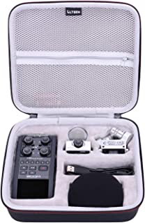 LTGEM EVA Hard Case for Zoom H6 Six-Track Portable Recorder. Fits Charger, Cable and Other Accessories