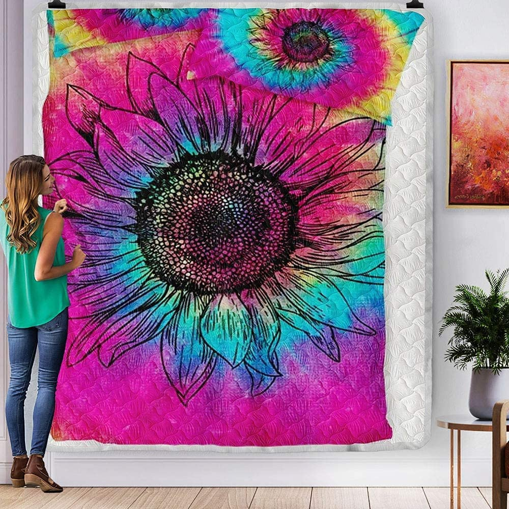 Super Special SALE held PITTI Colorful Quantity limited Rainbow Sunflowers Quilts Beautiful Quil Painting