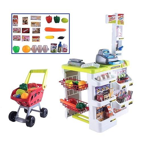 1ba656a5b3b3 Delex® Children Role Play Supermarket Shop Toy Set With Scanner Cashier  Till Set with Lights