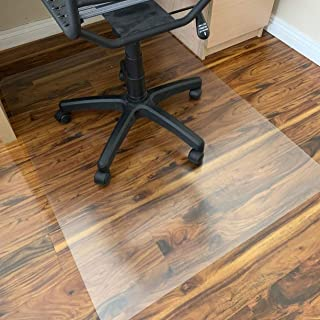 Polycarbonate Office Chair Mat for Hardwood Floor, Floor Mat for Office Chair(Rolling Chairs)-Desk Mat&Office Mat for Hardwood Floor-Sturdy&Durable, Immediately Flat When Taken Out of Box: 40
