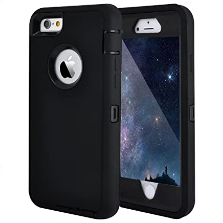 amazon com under $10 iphone 6 \u0026 6s cases cell phones \u0026 accessoriesiphone 6 case, iphone 6s case, crosstree heavy duty shockproof series case for iphone