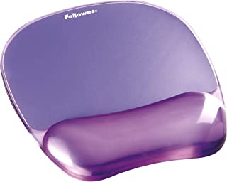 Gel Crystal Transparent Mousepad and Wrist Rest – Purple