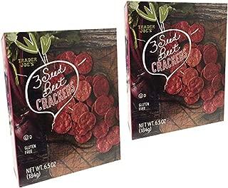 Trader Joe's - 3 Seed Beet Crackers NWT WT. 6.5 OZ (184g) - 2-PACK