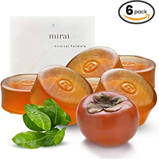 Purifying & Deodorizing Soap Bar | Handmade Soap with Japanese Persimmon Extract to Help with Nonenal Body Odor Associated with Aging | Artisanal Japanese Soap for Men & Women | 6 bars 100g each