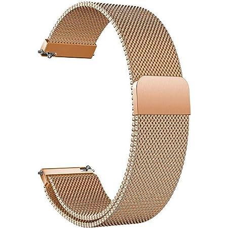 Bracelet de Montre Magnétique pour Homme Femme Bracelet de Montre Réglable en Acier Inoxydable pour Pattes de Montres Intelligentes