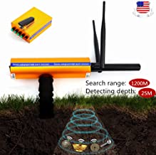 BSTOOL Metal Gold Detector Handhold AKS Scanner Finder Silver Copper Advanced Probe Receiver Launcher 3D Professional Long Range Diamond Finder Detective 1200M Range 25M Depth, Gold