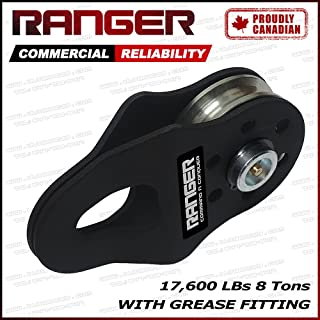 Ranger (8 Tons 17,600 LBs) Commercial Reliability Snatch Block with Grease Fitting by Ultranger