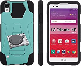 LG Tribute HD Phone Cover, Turntable- Hexo Hybrid Armor Phone Case for [LG Tribute HD] with [Kickstand] by Mobiflare