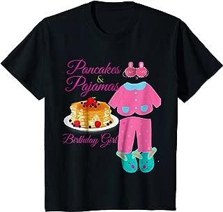 Kids Pajamas & Pancakes Slumber Party Shirt Girls Outfit Gift