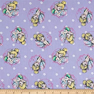 Springs Creative Products 0588924 Springs Creative Disney Tink Fashion Tinkerbell Toss Lavender Fabric by the Yard