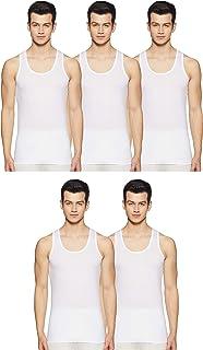 Chromozome Men's Plain Vest (Pack of 5) (It25(Po5) White_White-L)