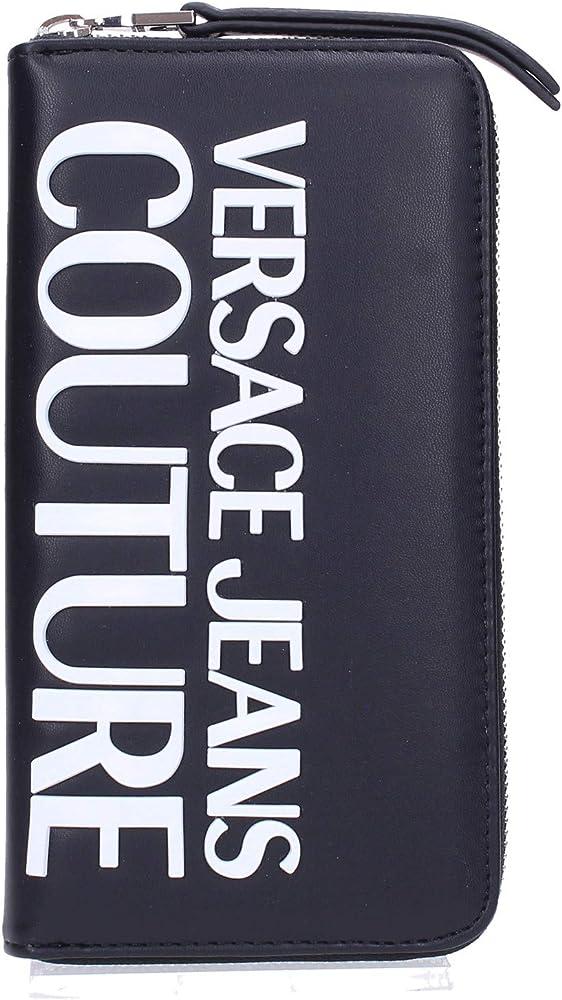 Versace jeans couture, porta carte di credito, portafogli da donna, in pelle VVBPM1-71413-899