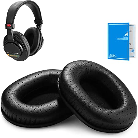 AGPTEK Perforated Replacement Earpads for Sony MDR 7506/Sony MDR V6/Sony MDR CD900ST, with Memory Foam Ear Pads, Breathable and Soft, 1 Pair (2 Pieces) - Black