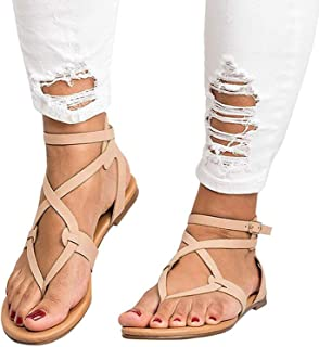 Ling-long 2019 Shoes Woman Bandage Summer Female Flat Sandals Casual Low Heels Ankle Strap Women Sandals