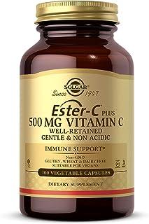 Solgar Ester-C Plus 500 mg Vitamin C (Ascorbate Complex) - Gentle & Non Acidic - Antioxidant & Immune Support - 100 Vegeta...