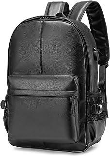 Hombre Mujer Mochila Antirrobo Impermeable Mochila Portatil 15.6 Pulgadas Mochila con Puerto de Carga USB Mochila Backpack para el Laptop para Ordenador del Negocio Trabajo Diario Viaje Negro