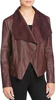 Bagatelle Women's Long-Sleeve Faux-Leather Draped Jacket
