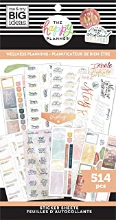 The Happy Planner Sticker Value Pack - Scrapbooking Accessories   Wellness Planning Theme - Multi-Color - Great for Journa...