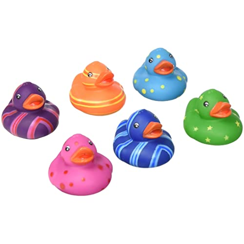 Rhode Island Novelty Colorful Pattern Rubber Duckies  4529bb85743b