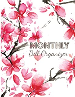 Monthly Bill Organizer: Personal Money Management With Income List, Monthly Expense Categories and Weekly Expense Tracker Monday to Sunday (Monthly Budget planner and Bill Tracker)