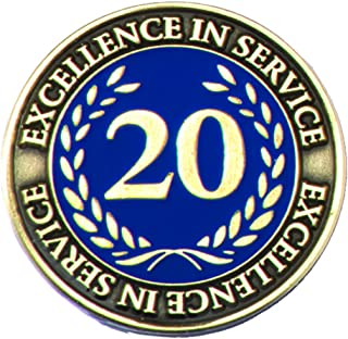 20 Year Excellence in Service Gold Laurel Award Pin