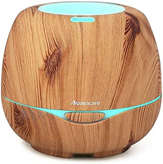 Large Essential Oil Diffuser for Aromatherapy, Aroma Ultrasonic Cool Mist Humidifier-Soothing Color Night Light- Extremely Quiet- 300ml-Brown-for Home, Large Room and Spa by Aromacare