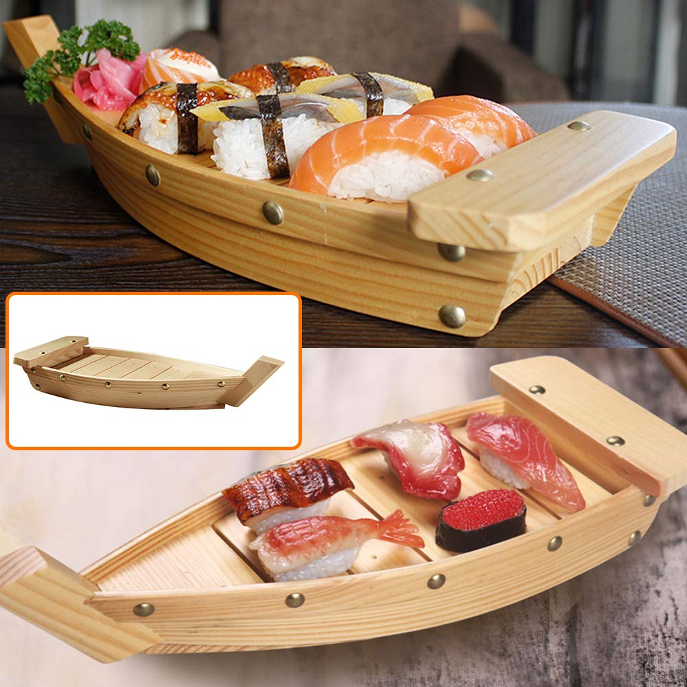 Wooden Sushi Tray Serving Boat Plate Utensils Japanese Cuisine Sushi Boat Plate Dish Tableware Decorations For Party Foods Snacks Nibbles Appetizers S Buy Online In Guernsey At Guernsey Desertcart Com Productid 150979641 You'll receive email and feed alerts when new items arrive. wooden sushi tray serving boat plate