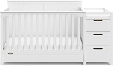 Storkcraft Hadley 4 in 1 Convertible Crib Changer, White, Easily Converts to Toddler Bed Day Bed or Full Bed, Three Position