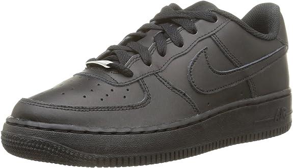 Nike Air Force 1 Big Kids Style Shoes 314192, Black/Black, 5