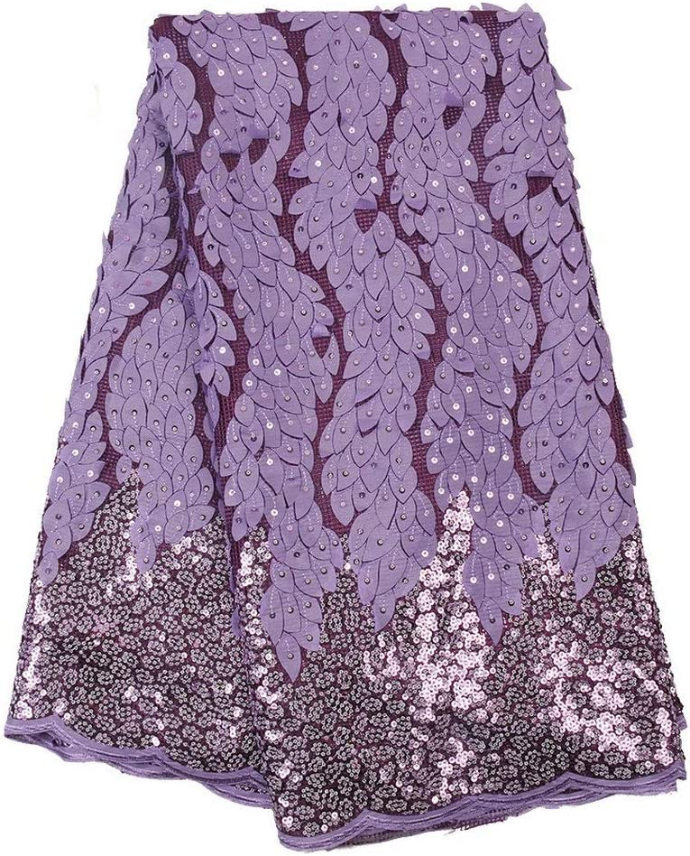Special price for a limited time ZHANGOOQI African French Lace New Orleans Mall Fabric Ghana Nigeria Wedding Shiny