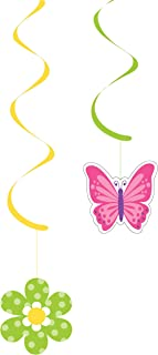 """Creative Converting 328288case Flowers and Butterflies Dizzy Danglers, 24"""", Multi-colored"""