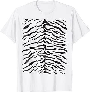 White Tiger Print T-Shirt Cute Costume Idea Stripes Pattern
