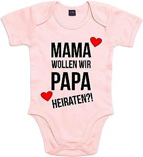 Shirt-Panda Baby Body Heiratsantrag Für Jungen Und Mädchen Mit Motiv Spruch Mama wollen wir Papa heiraten in 10 erhältlich