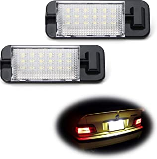 iJDMTOY OEM-Fit 3W Full LED License Plate Light Kit For 1992-1998 BMW E36 3 Series, Powered by 18-SMD Xenon White LED & Can-bus Error Free