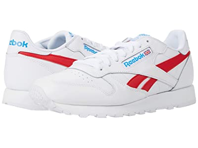 Reebok Lifestyle Classic Leather (White/Vector Red/Horizon Blue) Men
