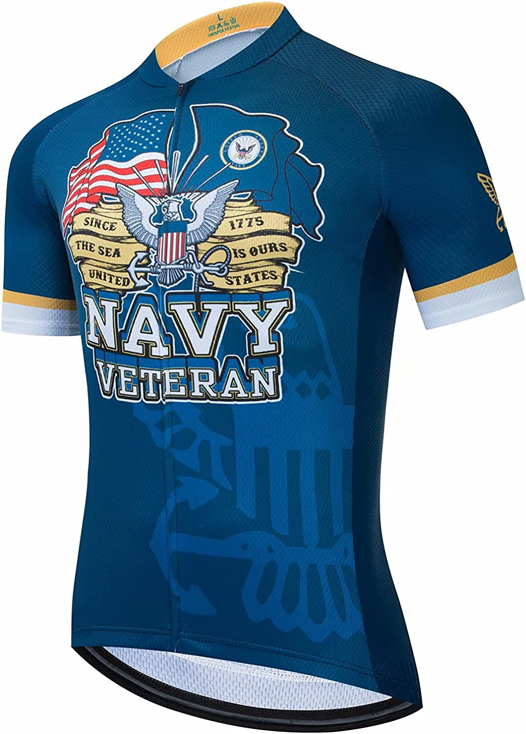 BIKE BEER Army Cycling Jersey Latest item Sleeve Limited price sale Navy Men's Cy Short