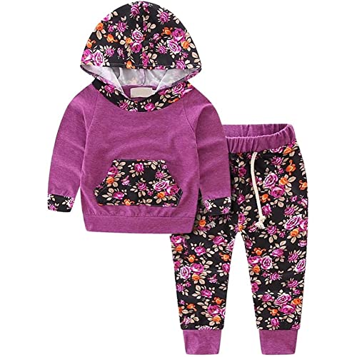 BINPAW Baby Girl s Floral Jogger Outfit a629930ff17c