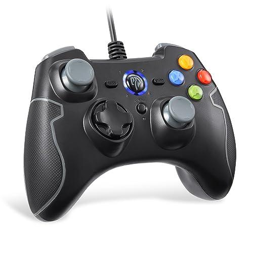 EasySMX Mando para PC, PS3 Gamepad Alámbrico, Joystick con los Botones de Doble-