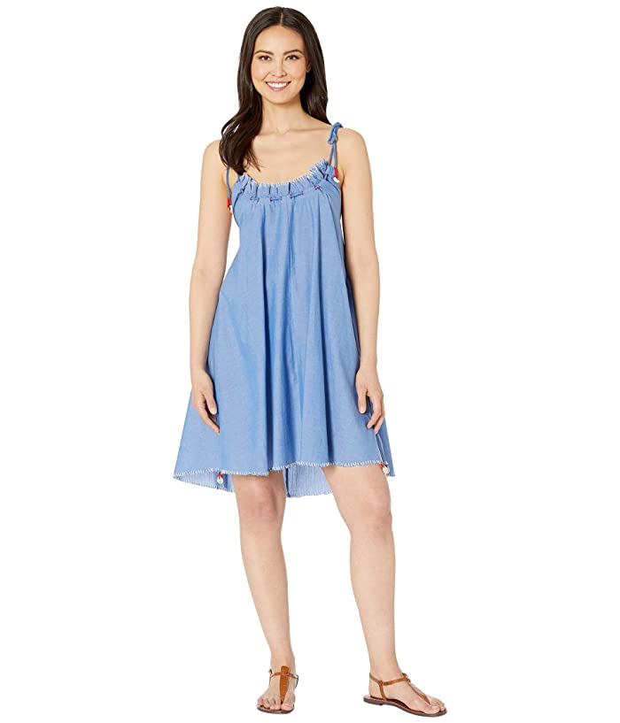 Polo Ralph Lauren Chambray Swing Dress Cover-Up (Blue) Women