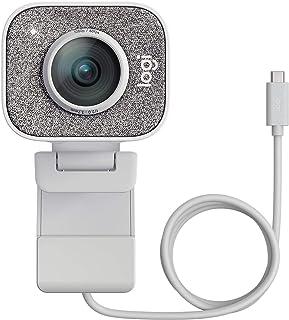 ロジクール ウェブカメラ フルHD 1080P 60FPS ストリーミング ウェブカム AI オートフォーカス 自動露出補正 自動ブレ補正 ストリームカム StreamCam C980OW オフホワイト USB-C接続 国内正規品 2年間メーカー保証