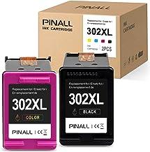 PINALL 2 Cartucho Compatible HP 302XL para HP DeskJet 3639 3630 OfficeJet 3831 3830 3833 OfficeJet 5230 5232 4655 4650Envy 4525 4500 4520 Impresora (1 Negro / 1 Color)