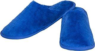Old Cobbler Winter Slippers Blue Fur