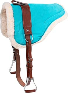 suede bareback pad with stirrups