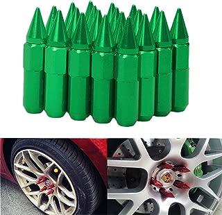 20 Green Spiked Aluminum Extended 60Mm Locking Lug Nuts Wheel//Rim 14 X 1.5 L19