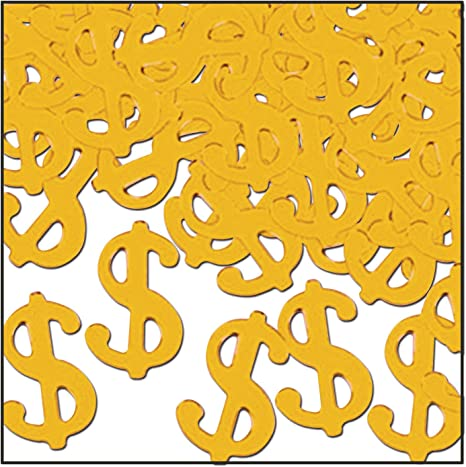 Amazon Com Fanci Fetti Silhouettes Gold Party Accessory 1 Count 1 Oz Pkg Kitchen Dining